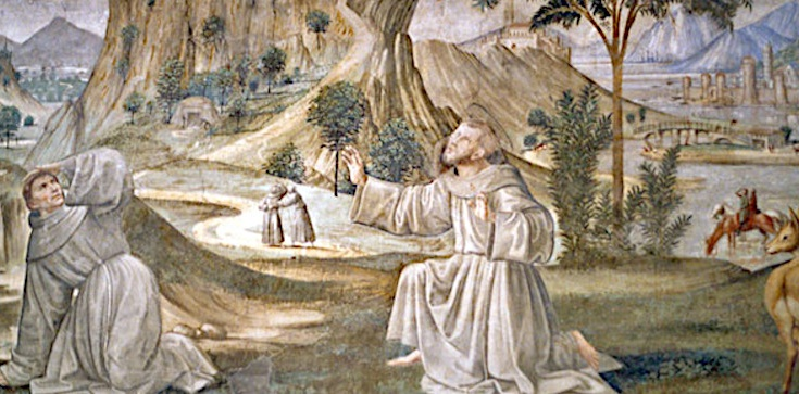 Krwawe stygmaty św. Franciszka z Asyżu - zdjęcie