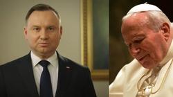 Prezydent w dniu 100. rocznicy urodzin św. Jana Pawła II: Świadectwo Jego życia wciąż porusza serca milionów - miniaturka
