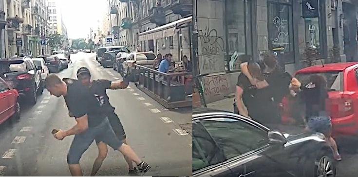 Szokująca agresja lewaków! Jest nagranie z ataku na kierowcę furgonetki 'Stop pedofilii'. 'Bojówkarze biegali z nożami' - zdjęcie