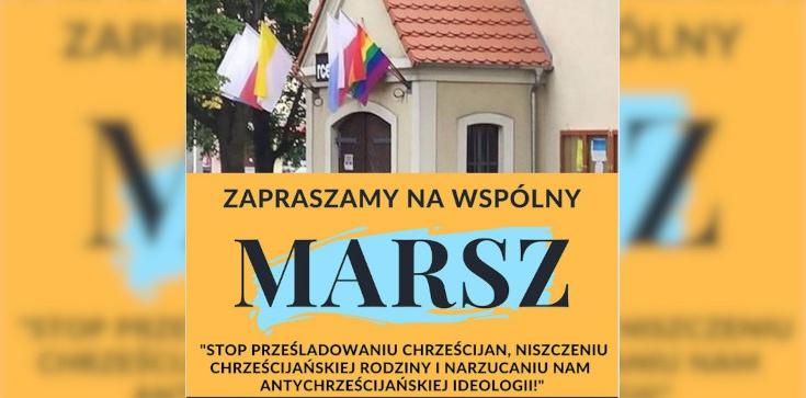 Tęczowa flaga i piknik przed kościołem. Jest reakcja parafian: Stop prześladowaniu chrześcijan! - zdjęcie