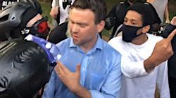 ,,Ty pier***ony neonazistowski kawałku g***a!''. Szokujący atak antify na konserwatywnego dziennikarza - miniaturka