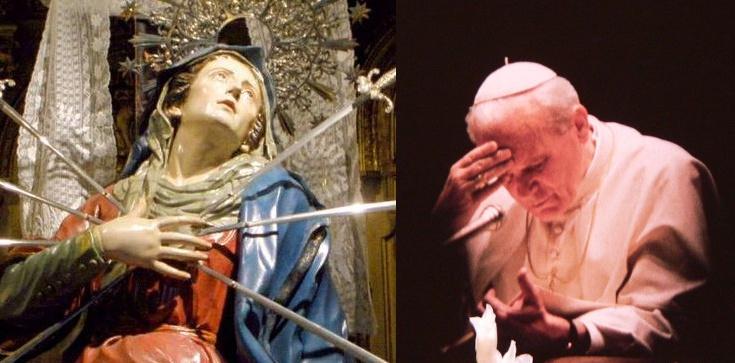 Dziś klękajmy przed Matką Boską Bolesną jak św. Jan Paweł II - zdjęcie