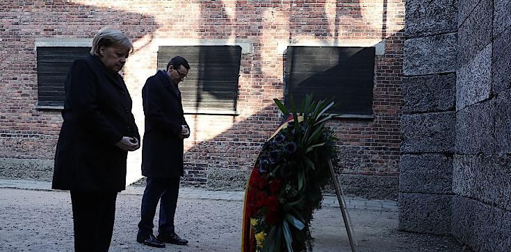 Premier Mateusz Morawiecki i Angela Merkel złożyli hołd ofiarom Auschwitz - zdjęcie