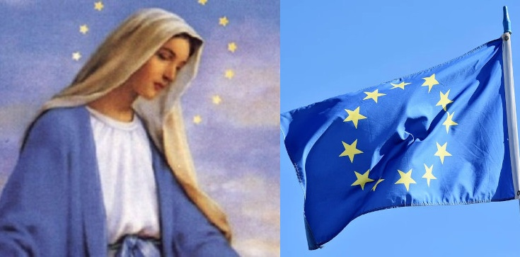 Tajemnica wyjawiona na łożu śmierci. Flaga UE to dar od Maryi! - zdjęcie