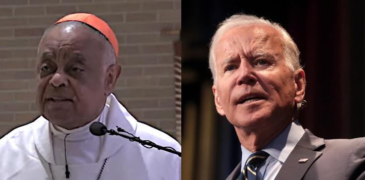 Proaborcyjny Biden i abp Waszyngtonu wspólnie na uroczystości. ,,To utrwali postrzeganie, że Kościół go aprobuje'' - zdjęcie