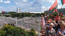 GIGANTYCZNE tłumy przeciwko Łukaszence. Wiec poparcia znacznie mniejszy choć zwieziono ich z całego kraju - miniaturka