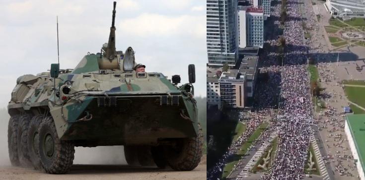 Białorusini się nie poddają! Setki tysięcy ludzi na ulicach, Łukaszenka wysłał wozy opancerzone - zdjęcie