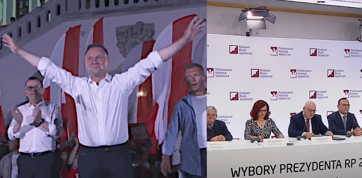 PILNE!!! Dane PKW z 99,98 proc. obwodów: 51,12 proc. głosów na Andrzeja Dudę - zdjęcie