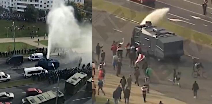 Białoruś wciąż protestuje! Milicja użyła armatek wodnych - zdjęcie