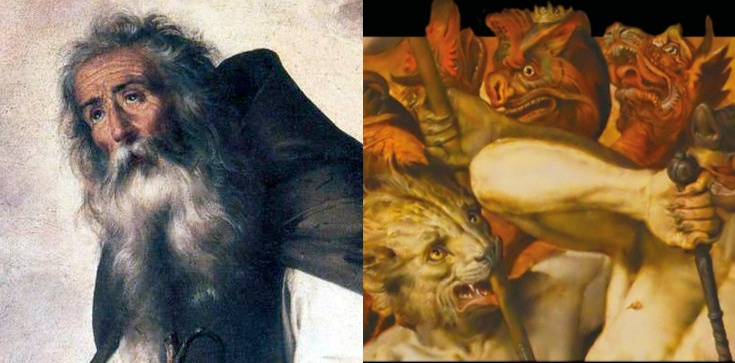 Diabeł zmienił się w stado wściekłych zwierząt, ale nie dał rady! Duchowa walka św. Antoniego - zdjęcie