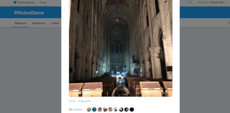 Konstrukcja Notre-Dame uratowana!!! Straty są jednak ogromne [ZDJĘCIA WNĘTRZA] - zdjęcie