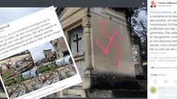 Francja: Ohydny atak na chrześcijańskim cmentarzu. Na grobach wymalowali swastyki - miniaturka