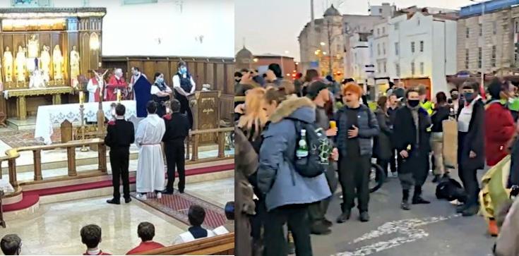 SKANDAL! Policji w UK przeszkadzało nabożeństwo, ale już lewacki protest - nie! - zdjęcie