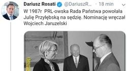 Co za podłość. Rosati udostępnił fake newsa o Przyłębskiej. Nawet nie przeprosił - miniaturka
