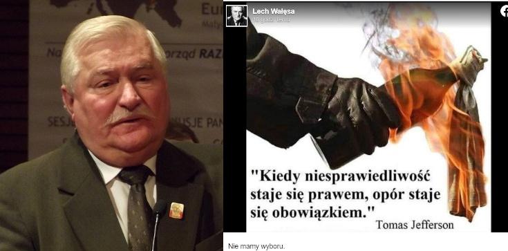Wałęsa promuje ,,koktajle Mołotowa'' - zdjęcie