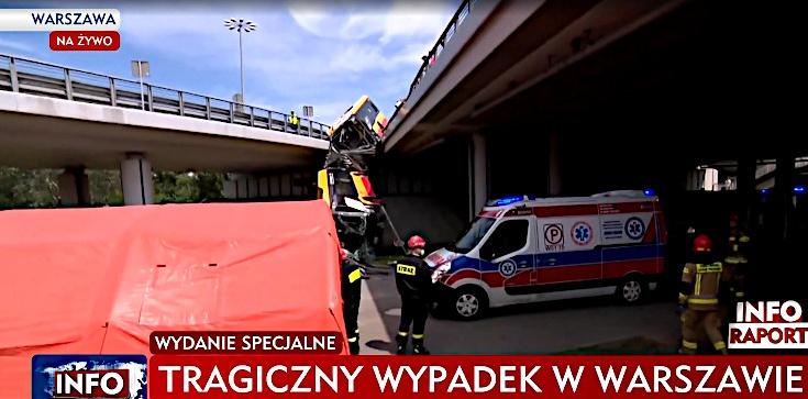 Pilne! Tragedia w Warszawie - autobus spadł z wiaduktu. Jedna osoba nie żyje, wielu rannych - zdjęcie