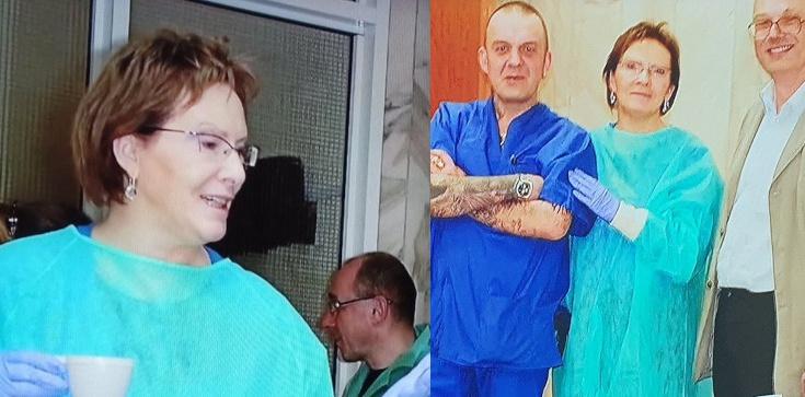 PORAŻAJĄCE! Uśmiechnięta Kopacz w prosektorium po katastrofie smoleńskiej - zdjęcie
