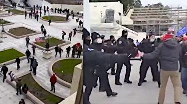 USA. Aż 18 byłych i obecnych mundurowych wśród zatrzymanych po zamieszkach na Kapitolu  - miniaturka