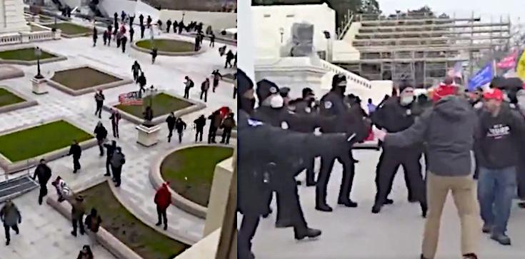 USA. Aż 18 byłych i obecnych mundurowych wśród zatrzymanych po zamieszkach na Kapitolu  - zdjęcie