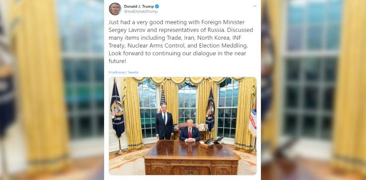 Trump wrzuca zdjęcie z Ławrowem i wbija szpilkę Rosji - zdjęcie