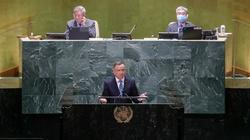 ,,Nie ustąpimy!''. Mocne słowa prezydenta Dudy w ONZ na temat Białorusi i działań hybrydowych - miniaturka