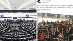 PE przeciwko Polsce i Węgrom. Owacje na stojąco od Biedronia - miniaturka