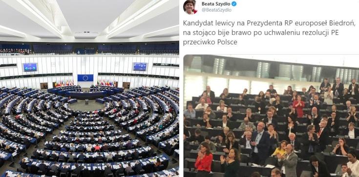 PE przeciwko Polsce i Węgrom. Owacje na stojąco od Biedronia - zdjęcie
