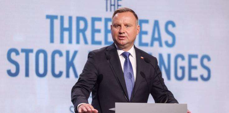 Prezydent Duda podczas otwarcia Konferencji Giełd Trójmorza: To największa szansa dla nas Polaków od XVII wieku - zdjęcie