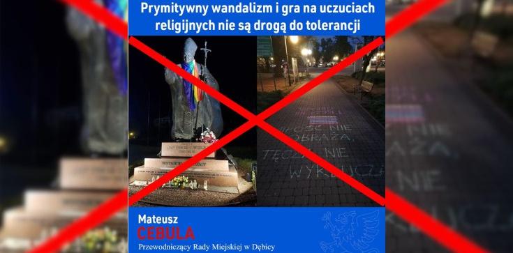 Tego już za wiele!!! Tęczowi profanują pomniki św. Jana Pawła II - zdjęcie