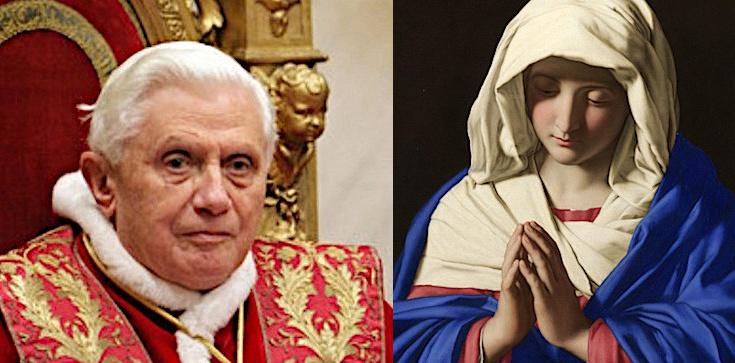 Benedykt XVI: Bez Maryi nie ma Kościoła - zdjęcie
