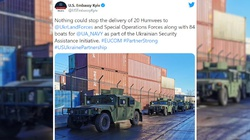 Amerykańskie pojazdy wojskowe i kutry trafiły do armii ukraińskiej - miniaturka
