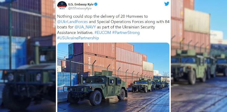 Amerykańskie pojazdy wojskowe i kutry trafiły do armii ukraińskiej - zdjęcie