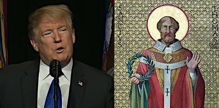 Prezydent Trump oddaje hołd św. Tomaszowi Becketowi, męczennikowi wolności religijnej - zdjęcie