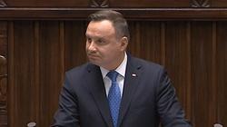 Prezydent Andrzej Duda w Sejmie: Polakiem jest ten, kto ma Polskę w sercu - miniaturka
