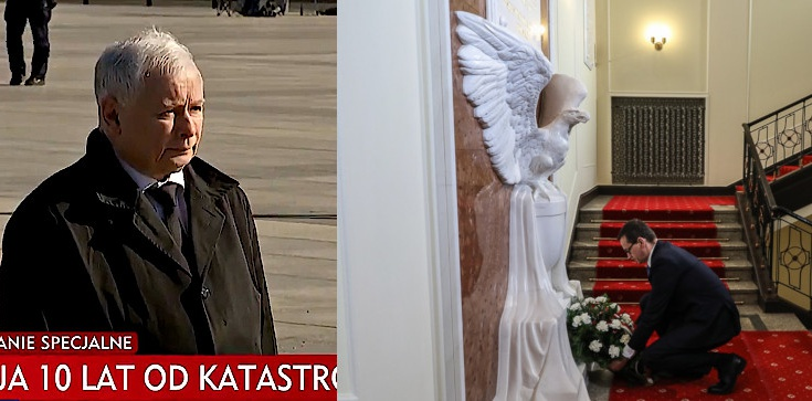 Politycy składają hołd ofiarom katastrofy smoleńskiej - zdjęcie