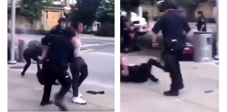 Z internetu: Szokująca agresja policjantów w USA - zdjęcie