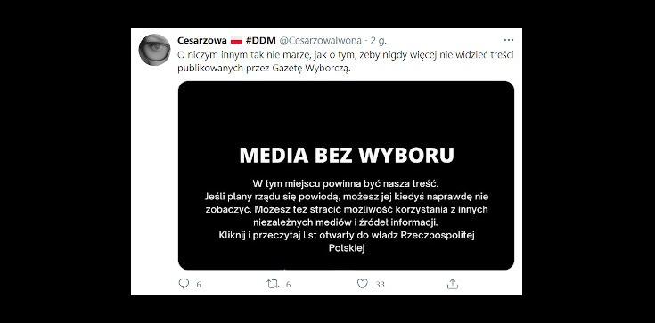 Protest mediów. ,,Onet, TVN et consortes mogłyby już prowadzić protest do końca świata'' - zdjęcie