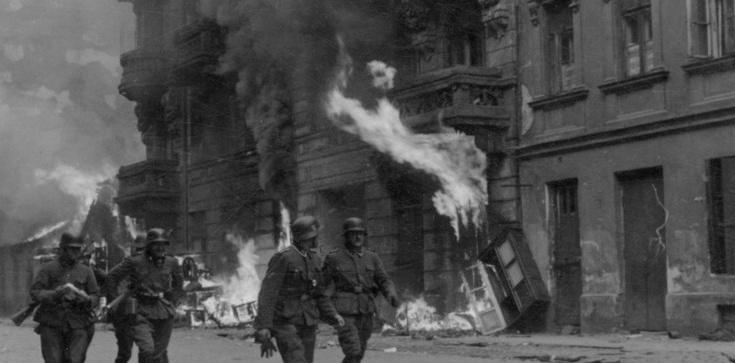 Dominacja żydokomuny wśród bojowników z getta warszawskiego. - zdjęcie