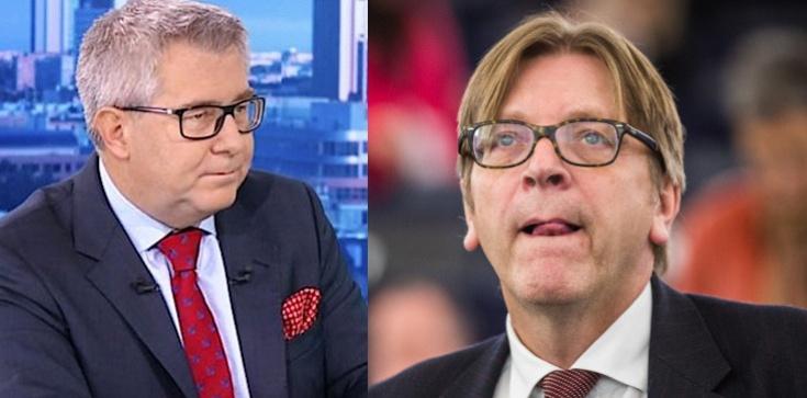 Ryszard Czarnecki: Verhofstadt  najadł się szaleju! Jego atak na prezesa PiS jest moralnie obrzydliwy - zdjęcie