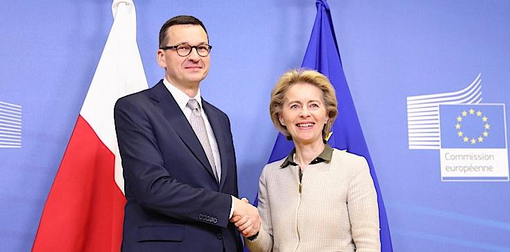 Premier Morawiecki rozmawiał z szefową KE. ,,Konstruktywne spotkanie'' - zdjęcie