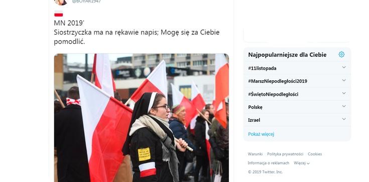Zakonnica na Marszu Niepodległości. Niesamowite świadectwo! Takie rzeczy tylko w Polsce! - zdjęcie