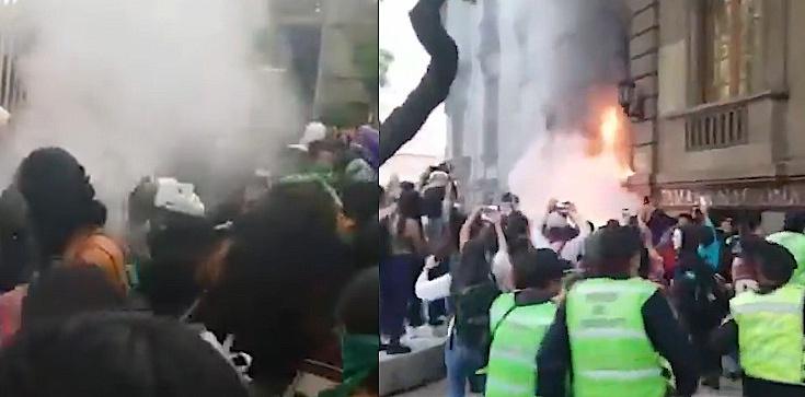 Szokujące! Meksyk: Aborcjoniści próbowali podpalić katedrę - zdjęcie