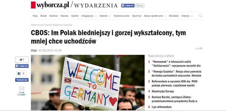 """""""Wyborcza"""" pedagogika wstydu. Niewykształcony Polak to ksenofob i rasista - zdjęcie"""