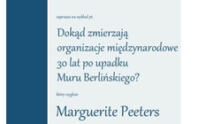 'Dokąd zmierzają organizacje międzynarodowe 30 lat po upadku Muru Berlińskiego'- zapraszamy na wykład Marguerite Peeters - miniaturka