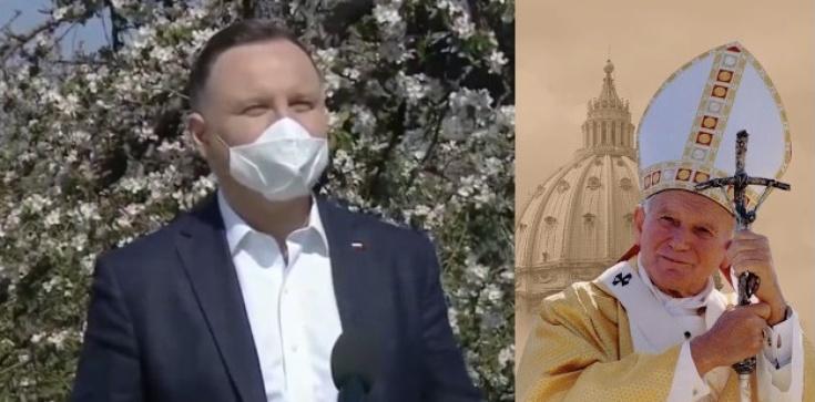 Prezydent Andrzej Duda: Nauka Jana Pawła II musi nam wciąż towarzyszyć - zdjęcie