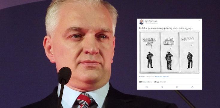 'Sku…ny'. Jarosław Gowin ironicznie komentuje histerię opozycji - zdjęcie