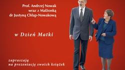 Prof. Andrzej Nowak wraz z Małżonką dr Justyną Chłap-Nowakową zapraszają na prezentację swoich książek! - miniaturka