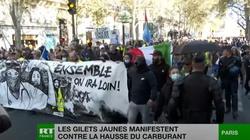 """[Wideo] Francja. """"Żółte kamizelki"""" znów na ulicach. Powodem ceny paliw - miniaturka"""