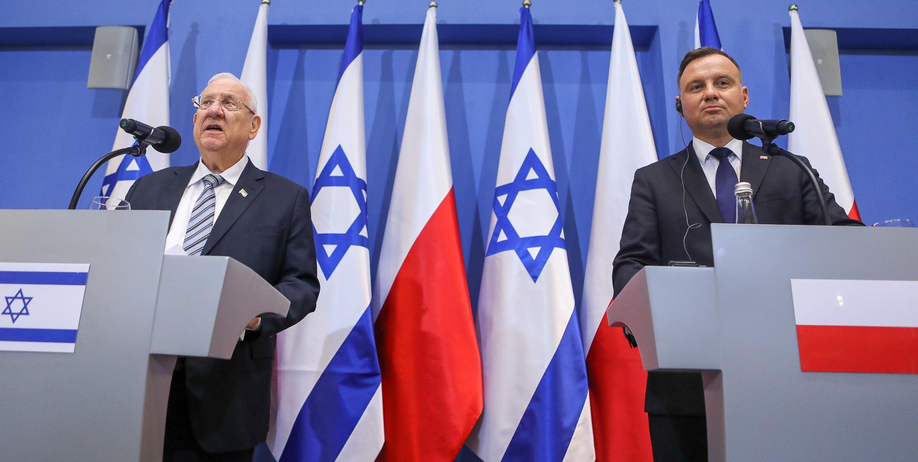 Prezydent Izraela: Wielu Polaków pomagało mordować Żydów - miniaturka