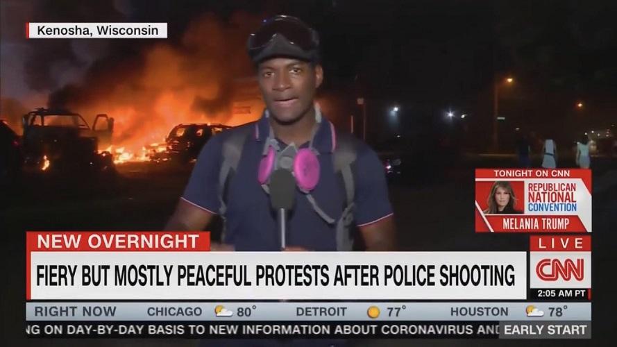 """Szok! USA. """"Gorące, ale pokojowe protesty"""" według CNN - miniaturka"""